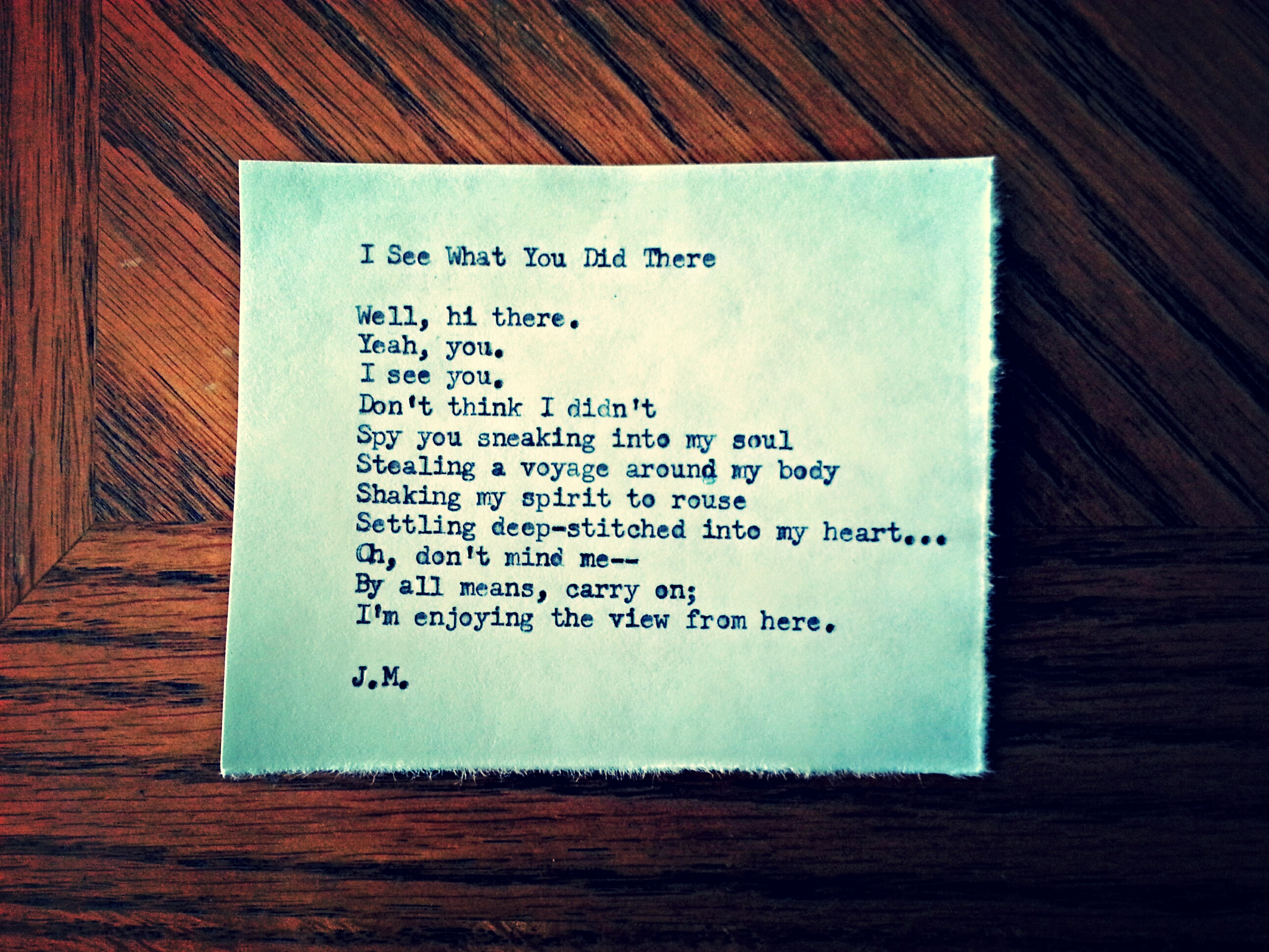 I See What You Did There (a poem)