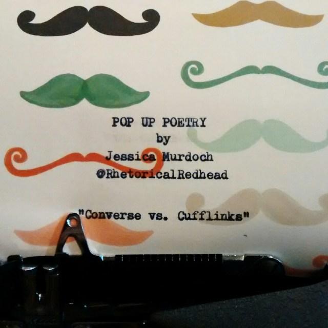 Converse vs. Cufflinks mustache paper