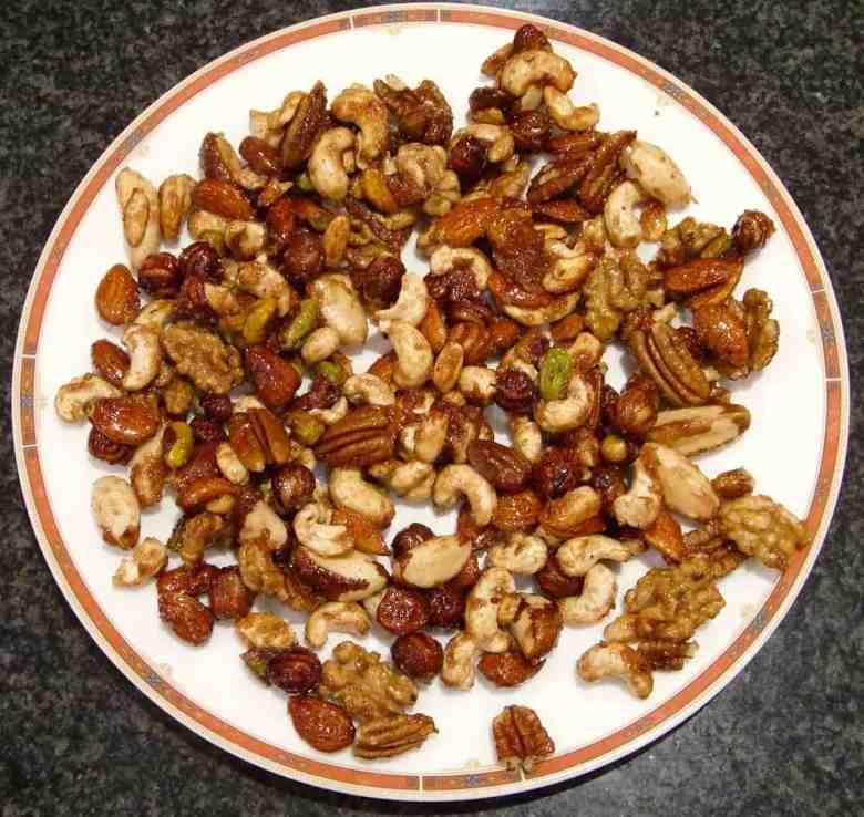 Healthy Caramelised Nuts (Vegan + GF)