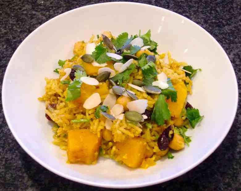 Chickpea Pumpkin Biryani (Vegan + GF)