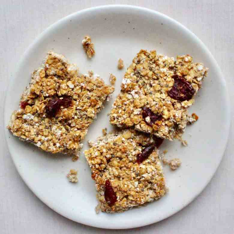 Peanut Butter Jelly Granola Bars (Vegan + GF)