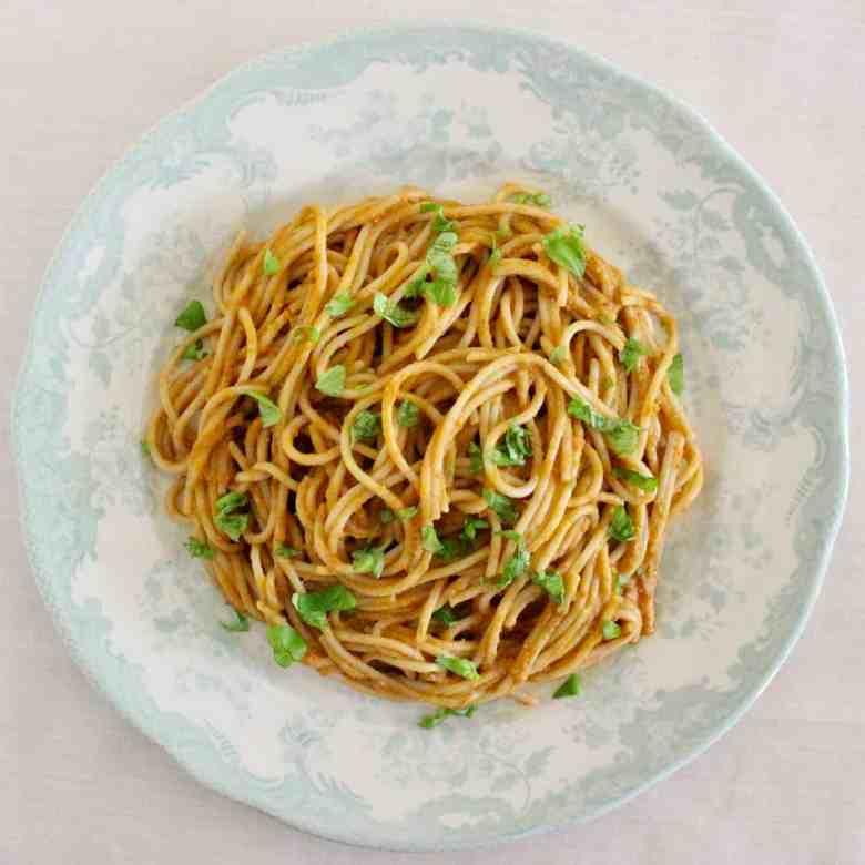 Creamy Vegan Tomato Sauce Pasta (GF)