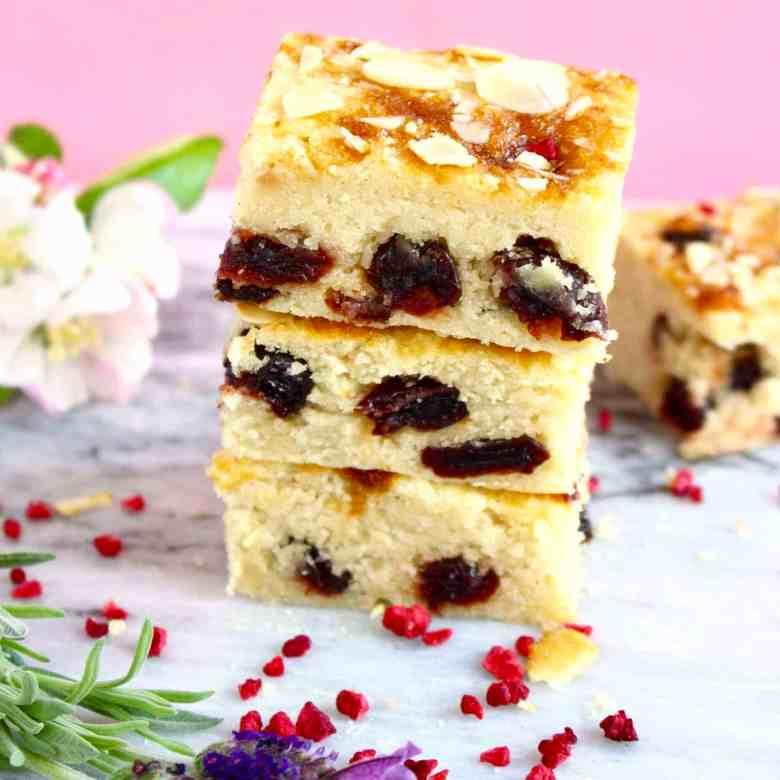 Gluten-Free Vegan Cherry Bakewell Cake