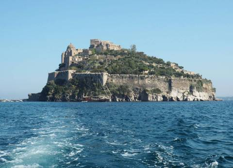 Ischia Boat Views Castle