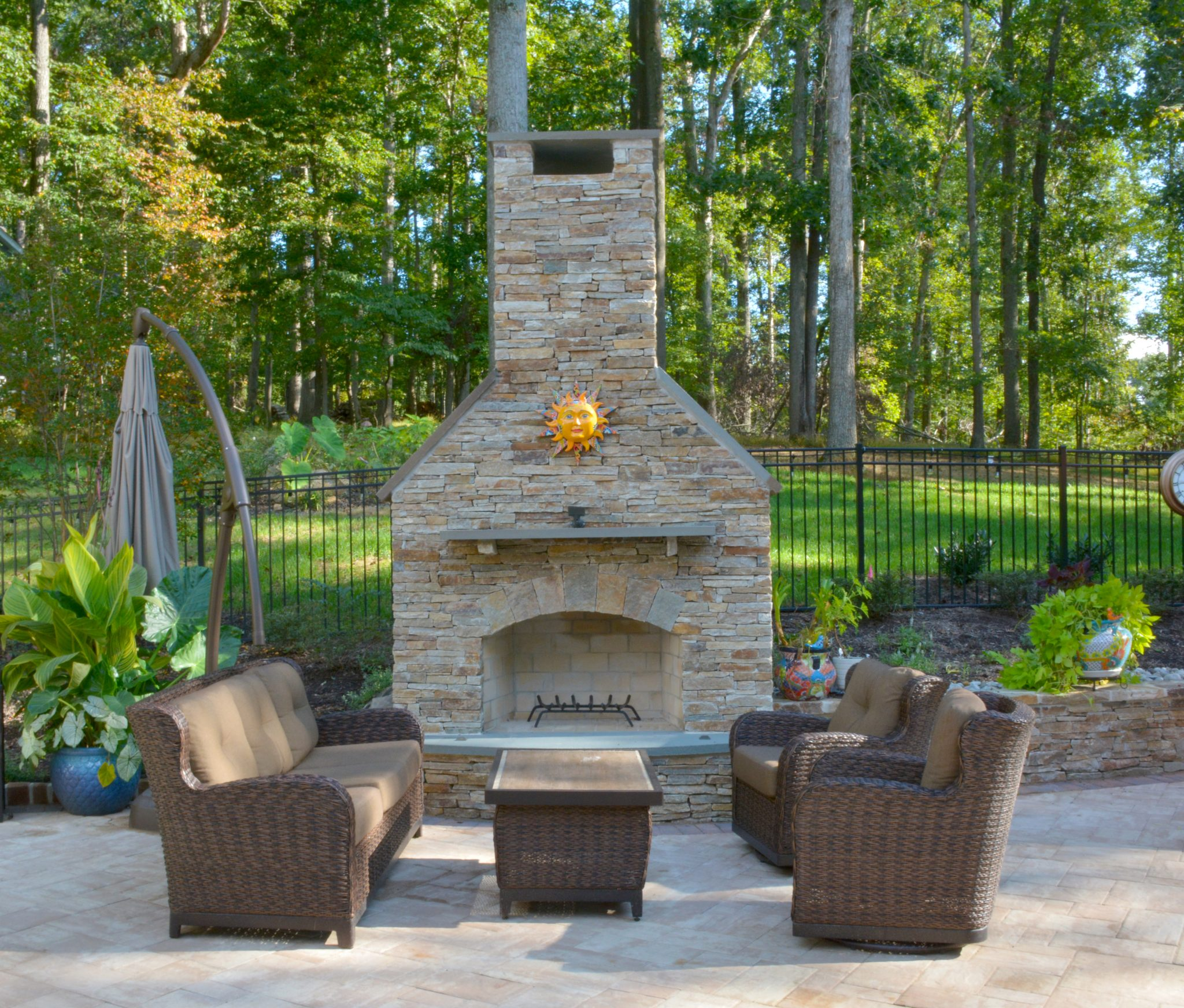 outdoor fireplace design photo gallery baltimore md outdoor
