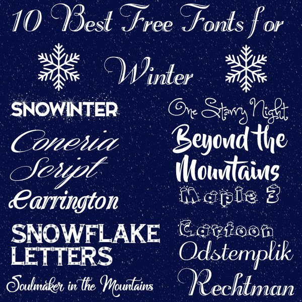 10 Best Free Fonts for Winter | Rhinestones & Sweatpants
