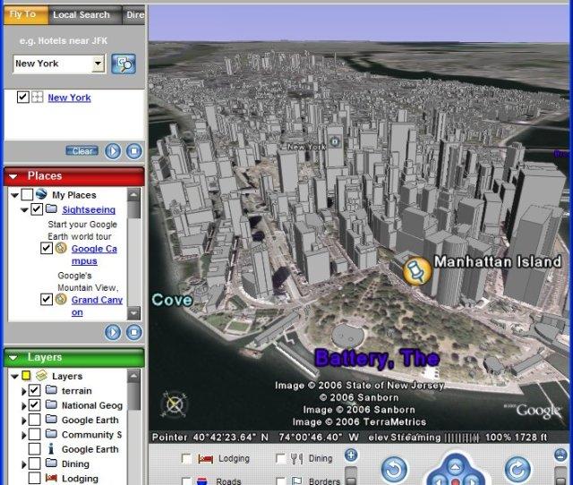 Google Earth 01 Urcita Mista Na Zemi Asi Vas Neprekvapi Ze Zejmena V Usa Jsou Dokonce Velice Presne Plasticky Zpracovana Ve 3d