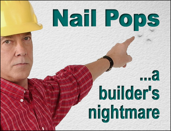 What Causes Nail Pops In Ceiling