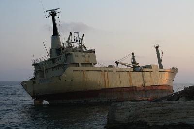 shipwreck in cyprus - tourist attraction