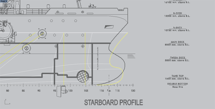 5- Model a hull from a 2D lines plan or general