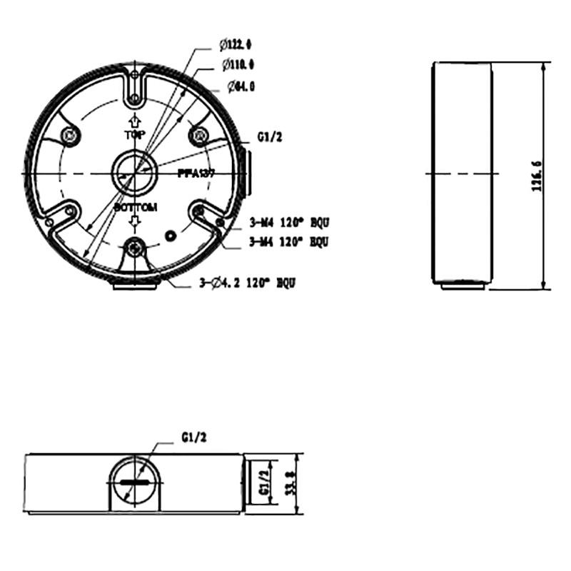 VSBKTA137: Adapter/Junction Box for Surveillance Cameras