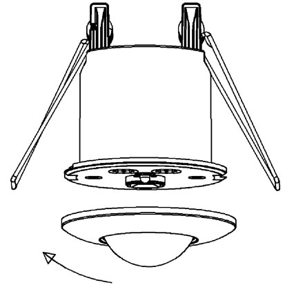 ENSA-PS3: Recessed Ceiling Mount PIR Sensor Motion