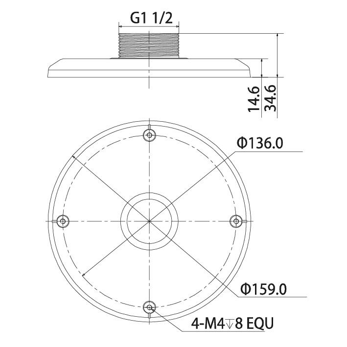 VSBKTA101: Adapter for Ceiling & Wall Mount Brackets