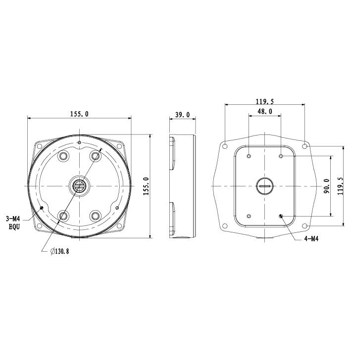 VSBKTA132: Adapter/Junction Box for Surveillance Cameras