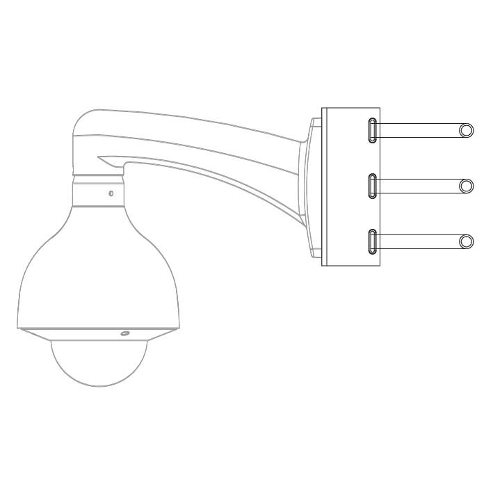 VSBKTA150: Triple Clamp Pole Mount Camera Bracket