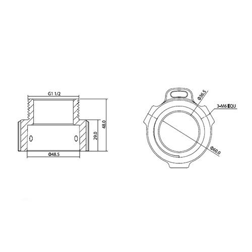 VSBKTA111: Ceiling/Wall Mount Adapter for PTZ Cameras