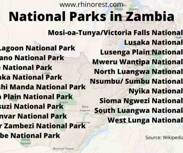 20 National Parks in Zambia – Overview | Reviews | Safari
