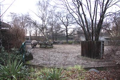 Außenanlage -  Bereich Narayani, 28. Dezember 2009 (Foto: Jeroen Jacobs)