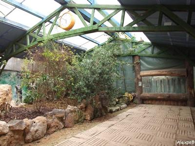 Besucherbereich im Nashornhaus, 26. Oktober 2008