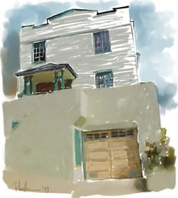 House Portrait in soft pastels