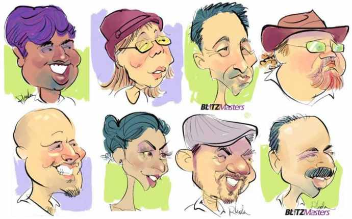 8 caricatures created by Rhoda at Oracle OpenWorld 2012