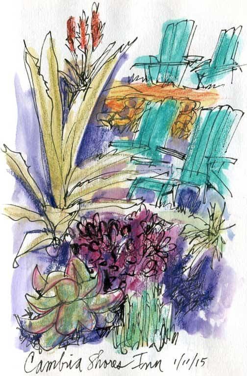 Cambria, CA Sketches