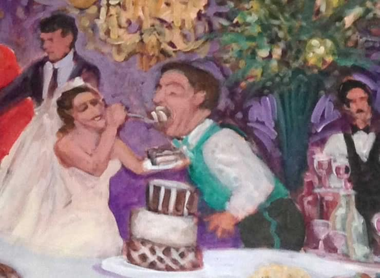 wedding event painting detail