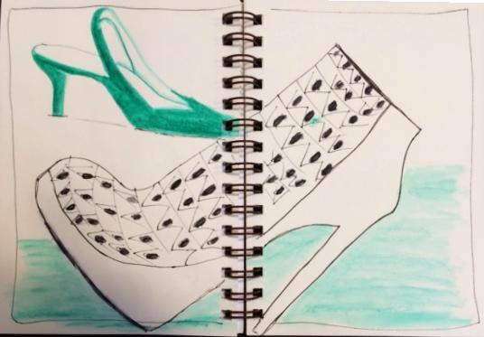 Sketching Shoes, Hats & Handbags