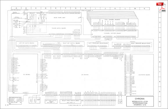 Rhodes Chroma · Service Manual: Schematics & Drawings