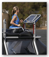 Alter G Zero Gravity Treadmill - Being used outside