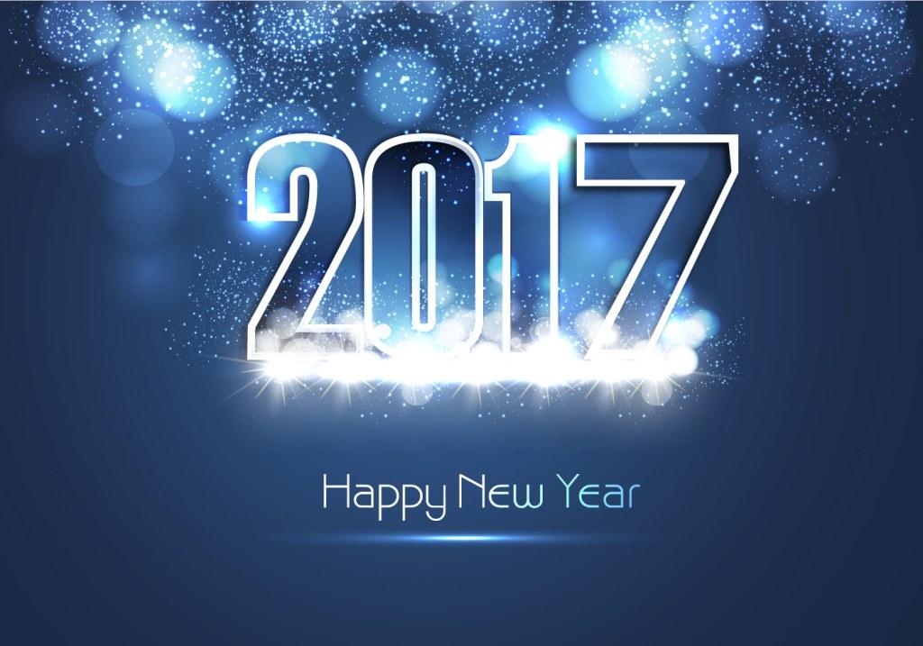 vector-shiny-blue-happy-new-year-2017-card
