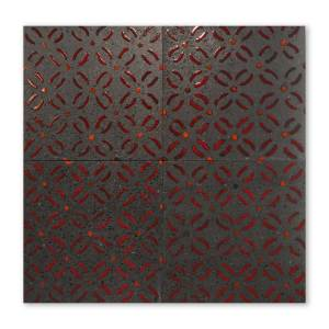 Decoro Red Butterfly Lava Tile