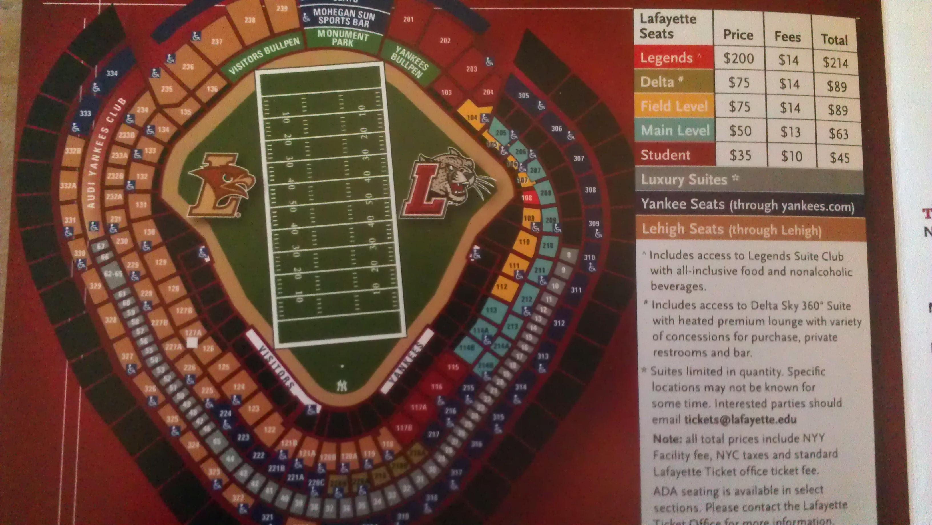 View Virtual Seating Yankee Stadium Chart