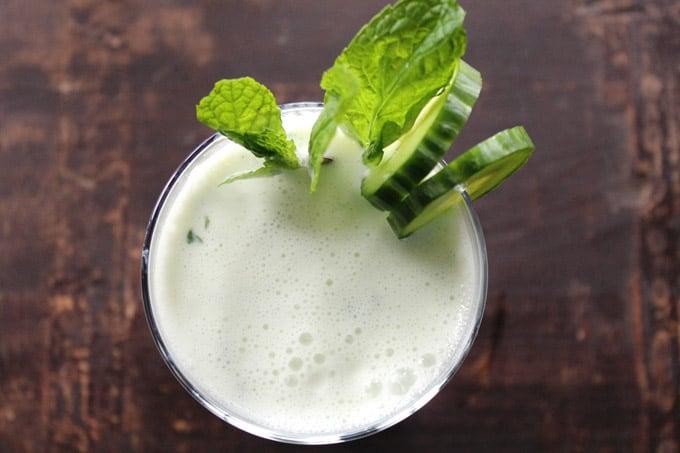 Cucumber doogh: Afghan yogurt drink