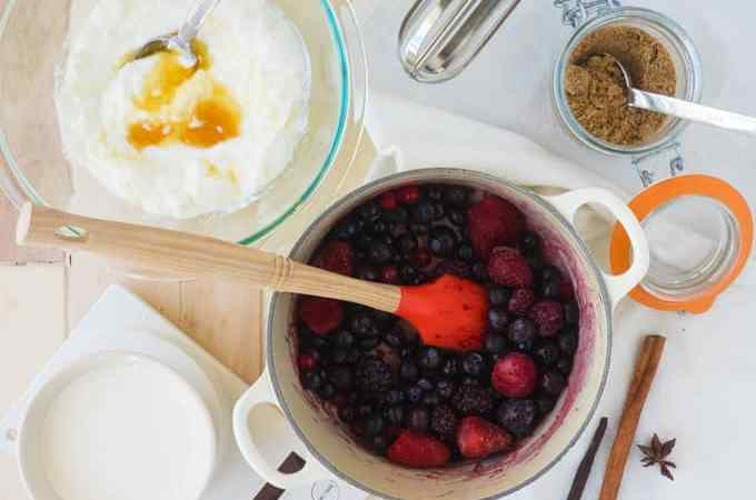 The Worktop's whipped yogurt parfait with berry compote