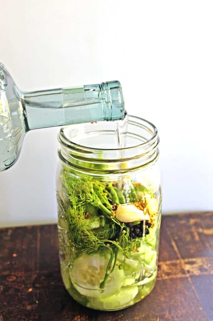 homemade dill pickle vodka