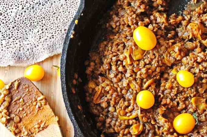 Misir wot: Ethiopian lentil stew