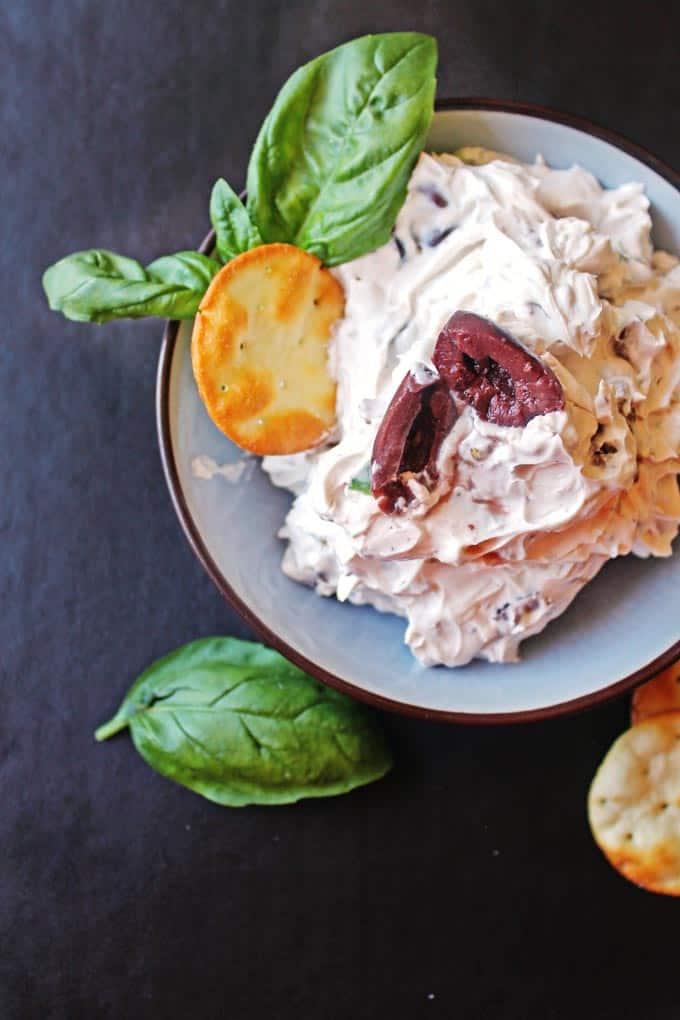 Olive walnut basil cream cheese // Rhubarbarians