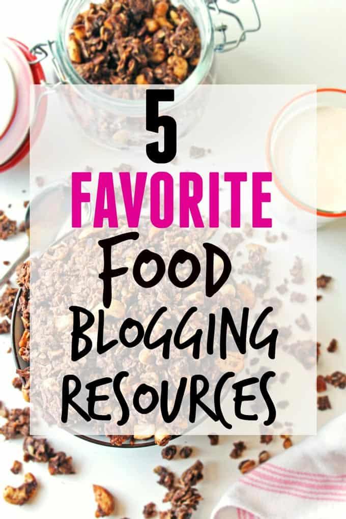My 5 favorite food blogging resources! // Rhubarbarians