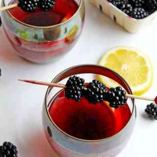 Blackberry lemon old fashioned
