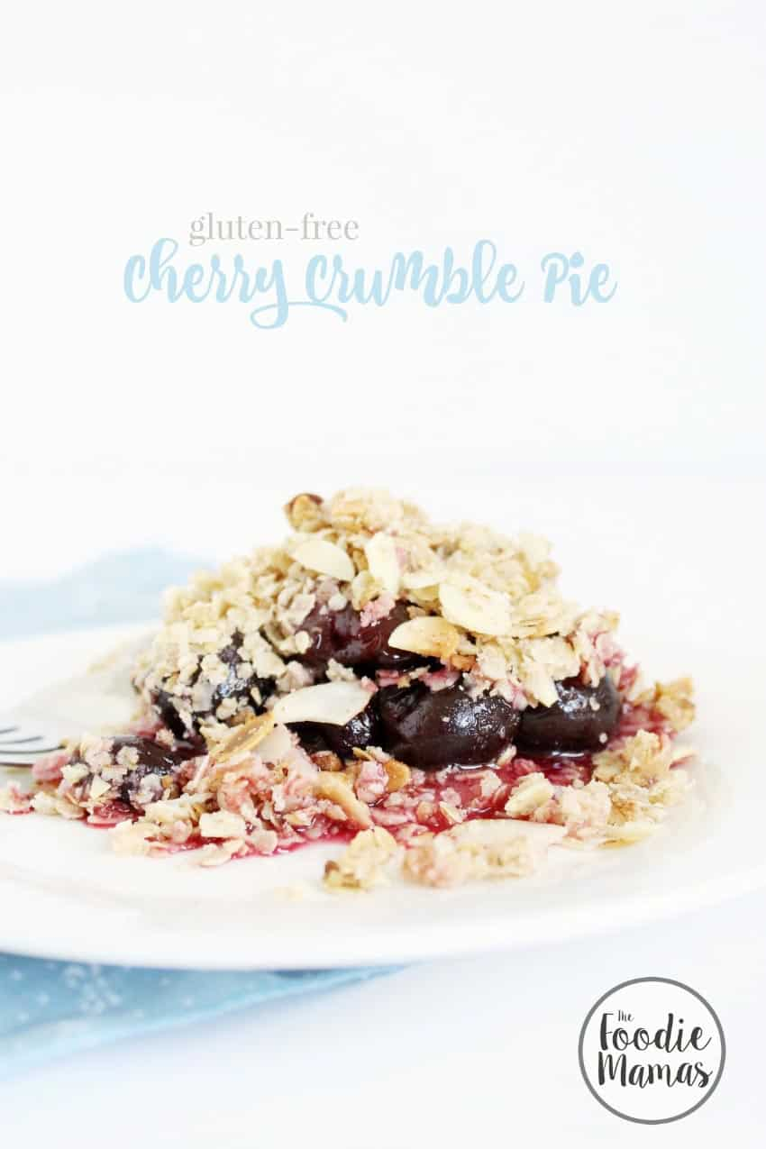Gluten free cherry crumble pie + 8 more delicious cherry recipes from The Foodiemamas!