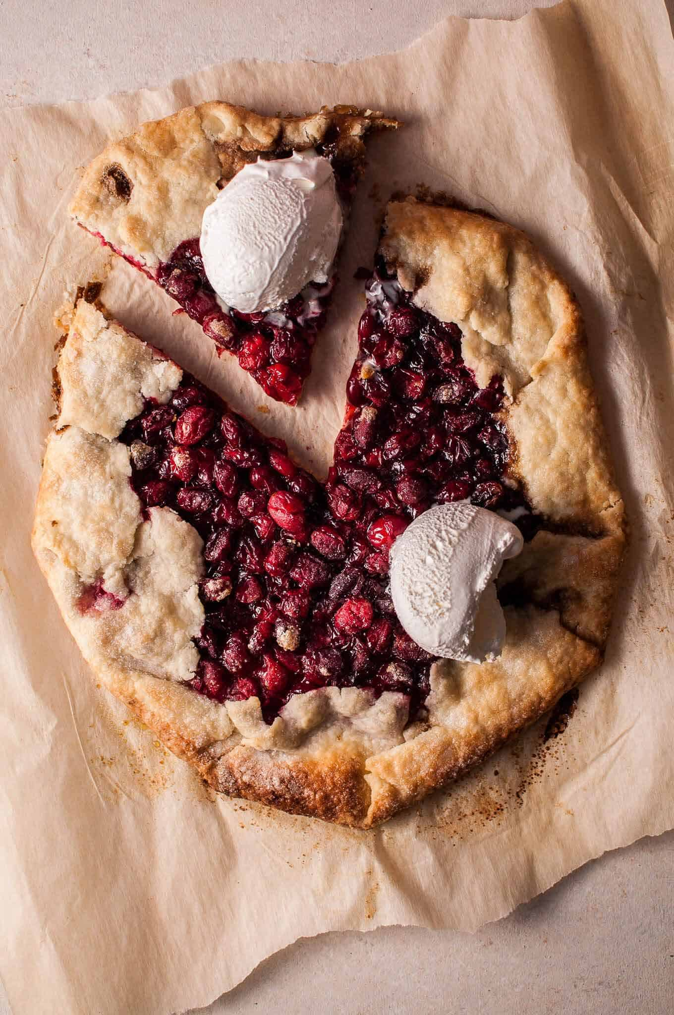 Cranberry galette + 15 Farmers market recipes to make in December! Delicious, autumn, winter, and holiday recipes made with fresh, seasonal produce from your local farmers market or CSA bin. Eat local!