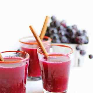 Mulled concord grape cider