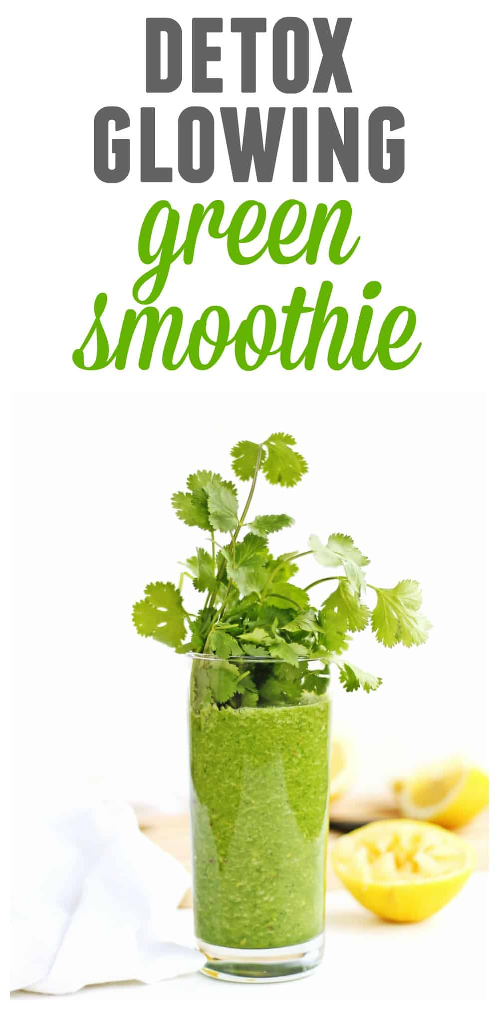 Glowing green detox smoothie recipe! // Rhubarbarians // Green smoothie / Heavy metal detox / Alkalizing smoothie / Cleansing / Antiaging / Superfood / #greensmoothie #detox #heavymetaldetox #antiaging #superfood #vegan #weightloss