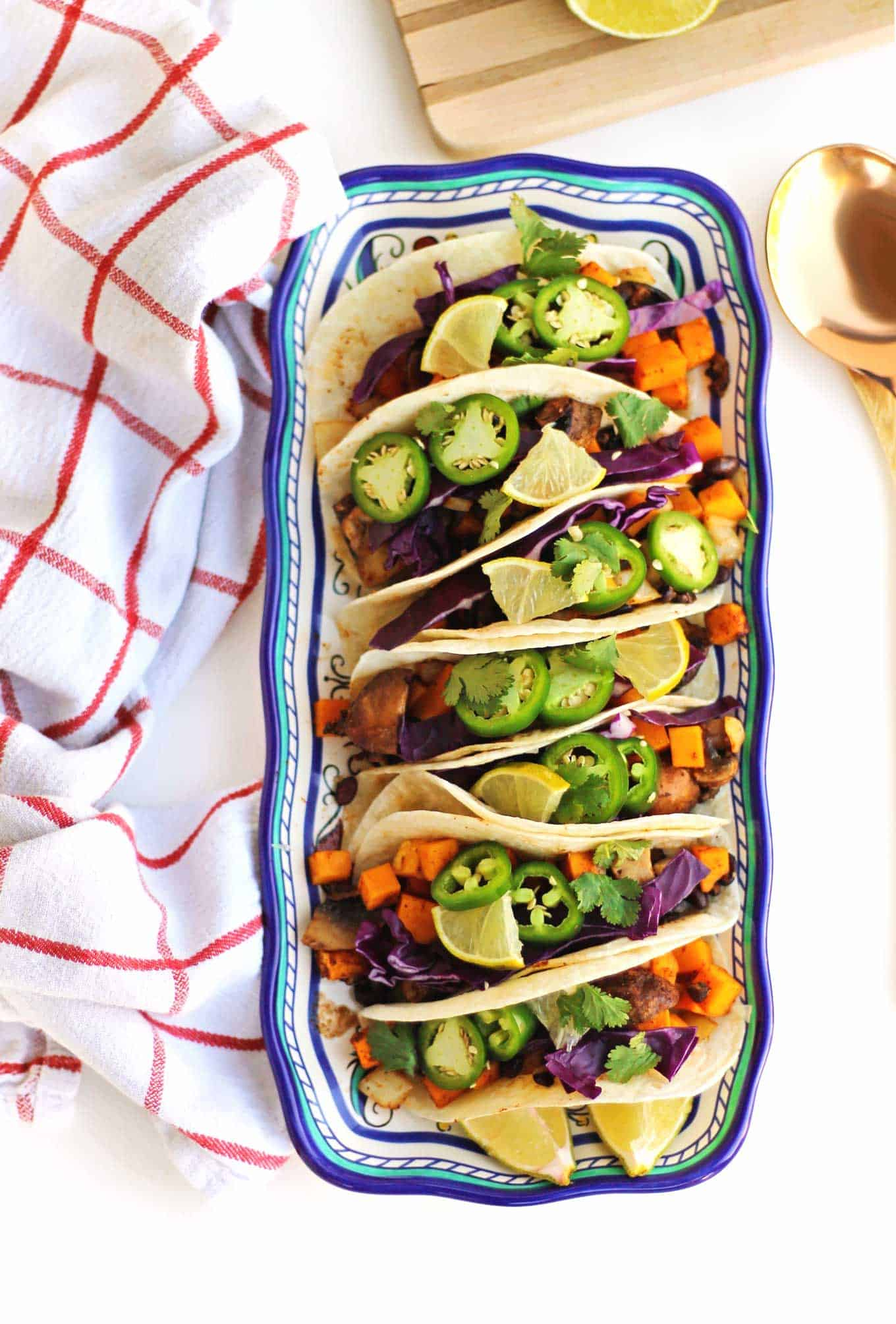 butternut squash black bean tacos