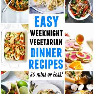 easy weeknight vegetarian dinner recipes