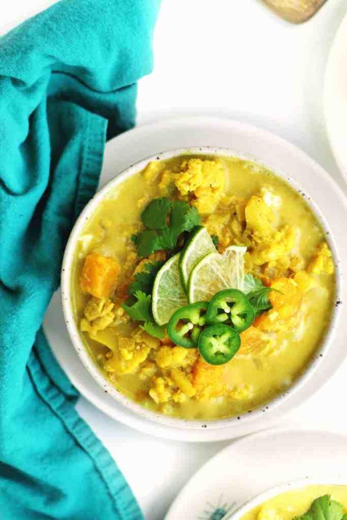vegan coconut curry soup recipe