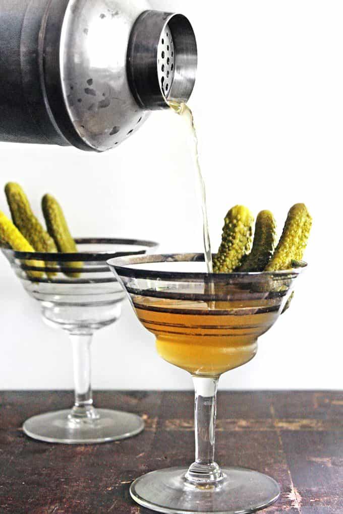 pickle martini pour shot