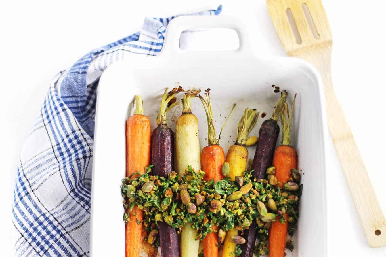 whole roasted carrots