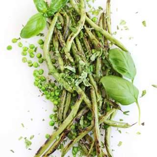 fresh sauteed green bean salad